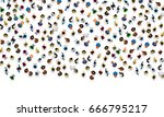 big people crowd on white... | Shutterstock .eps vector #666795217
