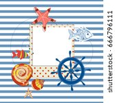 summer navy background  photo... | Shutterstock .eps vector #666796111