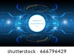 abstract technology background...   Shutterstock .eps vector #666796429