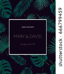 wedding invitation or card... | Shutterstock .eps vector #666799459