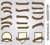 ribbon and banner collection | Shutterstock .eps vector #666800749