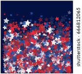 4th of july square vector... | Shutterstock .eps vector #666812065