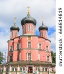 donskoy monastery  moscow russia | Shutterstock . vector #666814819