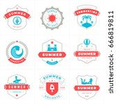 summer holidays labels and... | Shutterstock .eps vector #666819811