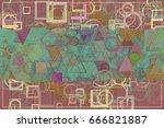 blank abstract pattern...   Shutterstock . vector #666821887