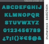 set of type characters  letters ... | Shutterstock .eps vector #666825604