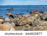 rocky coastline of finland | Shutterstock . vector #666825877