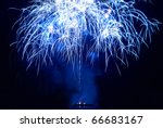 colorful fireworks on the black ... | Shutterstock . vector #66683167