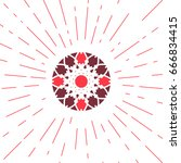 circular ornamental sun symbol. ...   Shutterstock .eps vector #666834415
