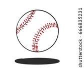 doodle baseball vector | Shutterstock .eps vector #666835231