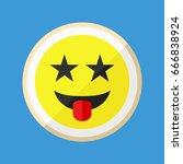 acid stamp paper lsd. flat icon ... | Shutterstock .eps vector #666838924
