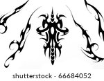 tattoo art  sketch of a black... | Shutterstock . vector #66684052