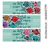 set of horizontal banners about ... | Shutterstock .eps vector #666843799