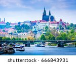 prague is the capital of the... | Shutterstock . vector #666843931