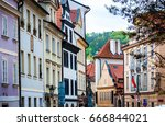 prague is the capital of the... | Shutterstock . vector #666844021
