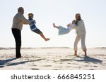 grandparents playing with... | Shutterstock . vector #666845251