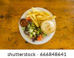 south african mince meat pie ... | Shutterstock . vector #666848641