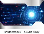 abstract technology background... | Shutterstock .eps vector #666854839