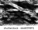grunge black and white circle... | Shutterstock . vector #666859891