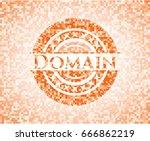 domain orange mosaic emblem... | Shutterstock .eps vector #666862219