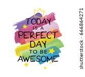 vector print design  ... | Shutterstock .eps vector #666864271