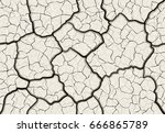 dry cracked mud with layered...   Shutterstock .eps vector #666865789