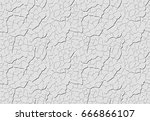 grey decorative plaster is... | Shutterstock .eps vector #666866107