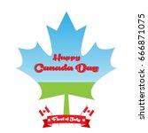 happy canada day vector... | Shutterstock .eps vector #666871075