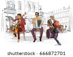 series of the streets with... | Shutterstock .eps vector #666872701