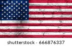 flag of united states | Shutterstock . vector #666876337