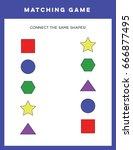 kids matching game. | Shutterstock .eps vector #666877495