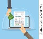 invoice concept illustration.   Shutterstock .eps vector #666885205
