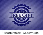 free gift badge with denim...
