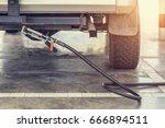 filling lpg to car  lpg... | Shutterstock . vector #666894511