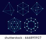 polyhedron. shapes. geometry | Shutterstock .eps vector #666895927
