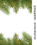 christmas green framework... | Shutterstock . vector #66689665