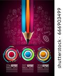 infograph template with... | Shutterstock .eps vector #666903499