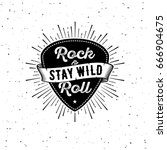 Rock And Roll Sign. Stay Wild....
