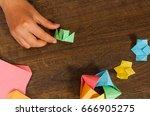children's creativity made of... | Shutterstock . vector #666905275