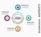 business infographic elements | Shutterstock .eps vector #666906571