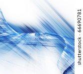 blue futuristic abstract element | Shutterstock . vector #66690781
