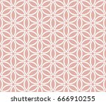 geometric abstract pattern.... | Shutterstock .eps vector #666910255