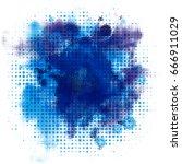 banner watercolor spray... | Shutterstock .eps vector #666911029