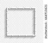 arrow on a square shape. vector.... | Shutterstock .eps vector #666913621