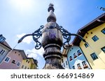 old town of bad toelz - bavaria - germany - stock photo