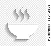 soup sign. vector. white icon... | Shutterstock .eps vector #666915691