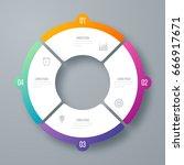 infographics template four... | Shutterstock .eps vector #666917671