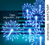 fourth of july. independence... | Shutterstock .eps vector #666917689