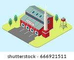 vector isometric illustration... | Shutterstock .eps vector #666921511