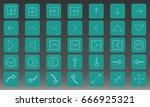 arrows icon set vector... | Shutterstock .eps vector #666925321
